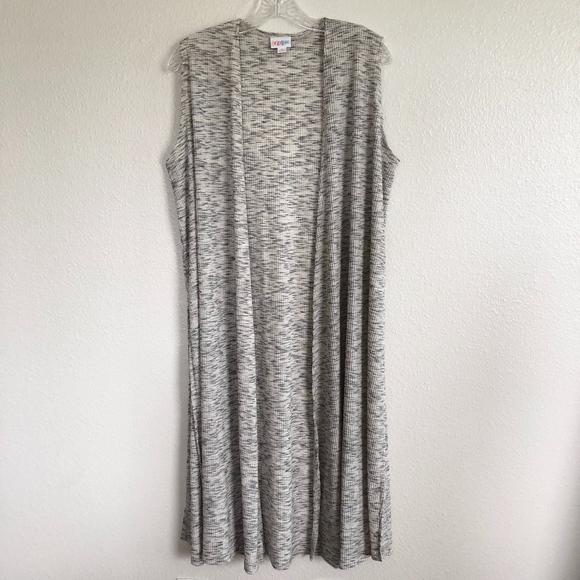 5d9e8b80fe6c8e LuLaRoe Sweaters - LulaRoe Grey Joy Duster Long Sleeveless Cardigan
